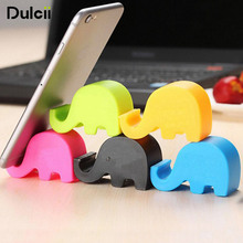 DULCII Mobile Phone Small Stand Holder Cute Elephant Smartphone Tablet Desk Stand Mount Universal Animal Kickstand