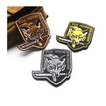100 piece a lot 3D Embroidery armband FOX HOUND patch Military Morale Armband Army Combat Badge Metal Gear Solid patch armband(China)