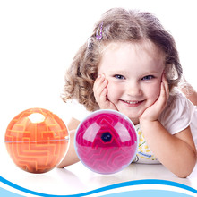 3D Labyrinth Magic Rolling Ball Puzzle Brain Teaser Game Sphere Maze Toy Kid(China)