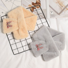 Children's cartoon Rabbit Plush winter scarf scarf girl thick warm scarf stall goods wholesale manufacturers(China)