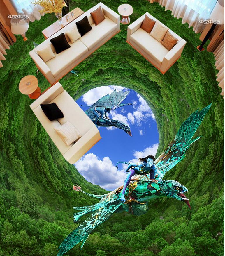 Bathroom 3d floor murals forest Photo floor wallpaper 3d stereoscopic Home Decoration 3d floor wallpapers<br><br>Aliexpress