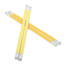 2Pcs/lot COB LED Strip Lights Bulb Lamp 12-14V 10W 1000LM two colour to choose White/Warm White(China)