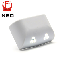 2PCS NED Universal 0.25W Inner Hinge Six LED Sensor Nigjt Light For Kitchen Bedroom Living Room Cabinet Cupboard Closet Wardrobe