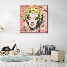 Marilyn Monroe Watercolor Stencil Portrait Hd Canvas Painting Print Living Room Home Decor Modern Wall Art Oil Poster