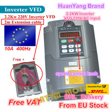 EU stock ship free VAT NEW item 2.2KW Variable Frequency Drive VFD Inverter 3HP 220V(China)