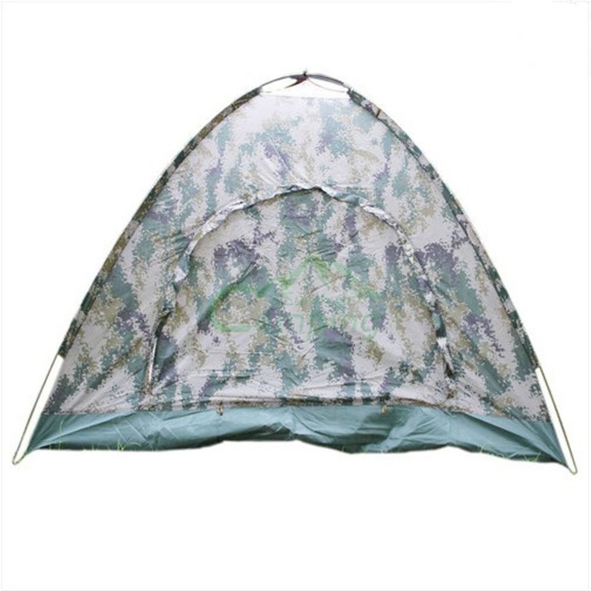 Outdoor Oxford Cloth Camping hiking Mountaineering Waterproof  Folding Tent for 4 person four season universal Camouflage<br>