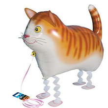 1pc Cute Pet Cat Foil Balloon Walking Animals Inflatable Helium Balloon For Baby Shower Kids Birthday Party Decorations and Gift(China)