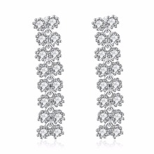 Best Buy Long Drop Earring White color with CZ stone Lead free Fashion earrings fashion jewelry Free shipment(China)