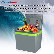 25L Mini Car Fridge 12V Cooler Warmer 2 in 1 Multi-function Travel Car Refrigerator Portable Electric Icebox Cooler Box Freezer