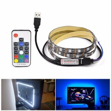 RGB USB LED Strip Backlight lighting For HDTV Desktop Flat Screen LCD TV PC Bias lighting 5V 1M 2M 3M 4M 5M 5050 SMD Decor lamp