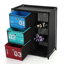 iKayaa US UK FR Stock Closet Storage Furniture Organizer 3-Drawer 3 Grids Home Storage Cabinet Clothes Toys Sockets Storage Box