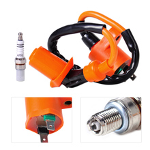 DWCX Racing Performance Ignition Coil + Spark Plug A7TC Fit for GY6 50cc - 150cc Scooter ATV Moped Go Kart Dirt bike Quads Dune(China)