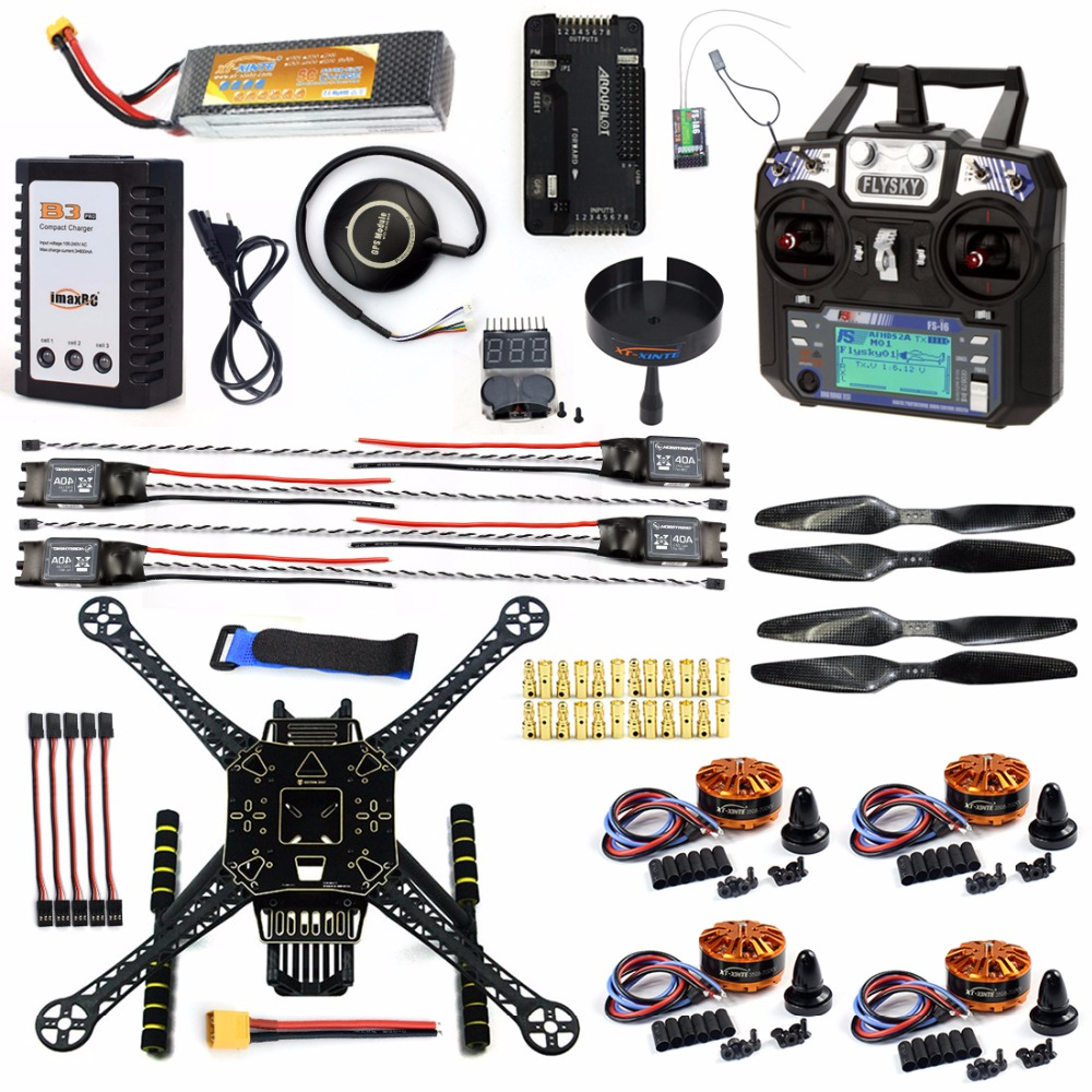 DIY GPS Drone Racer APM 2.8 Flight Controller S600 4-Axis Unassembled Quadcopter Kit with Landing Gear AT9S FS-I6 Transmitter