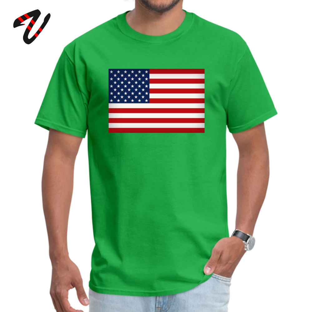 Funny American Flag T-Shirt New Arrival Summer Fall Short Sleeve Round Collar T Shirt 100% Cotton Fabric Men 3D Printed T Shirts American Flag 5782 green
