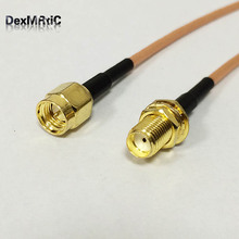 1PC New RG316 coaxial Cable SMA Male To SMA Female Jack Connector Cable Adapter Pigtail 15CM Adapter(China)