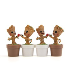 1pcs New DIY Decoration Toys Guardians of the Galaxy Tree Man Action Figures Collection Model Toys for Garden Home Decoration(China)