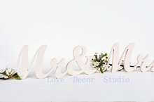 free shipping  pure white Mr and Mrs sign wedding pvc letters sweetheart table signs decor gift idea