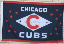 Custom Chicago Cubs Throwback City Outdoor Indoor Baseball Football College Flag 3X5 Custom USA Any Team Flag(China)