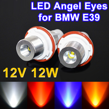 Flytop LED Marker 2*6W 12W 12V for CREE LED Chips White Red Blue Yellow Angel Eyes for BMW E39 E53 E87 E60 E61 E63 E64 E65 E66(China)
