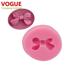 HOT 3.5*3.1*0.8CM 3d Bow Bowknot silicone cake mold For fondant decorating tools Mould silicone soap DIY cooking tools N1781