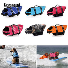 Gomaomi Pet Dog Swimming Life Jacket Preserver Life Vest Coat With Adjustable Belt(China)