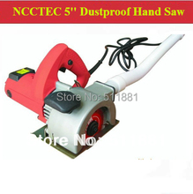 5'' Dustless Concrete Hand Saw | 125mm hand held electric cutting grooving machine with dust shroud | double saw blades 2hp(China)