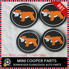 Brand New Silica Gel Material Bull Dog Style Non Slip Pad For Cup Holder of  mini cooper Countryman  R60 Car(4 Pcs/Set)