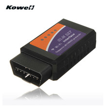 KOWELL Super ELM327 Wi-Fi Wireless OBDII Car Diagnostic Reader Scanner Adapter for iPhone Smart Intelligent OBD 2 Scan Tools(China)