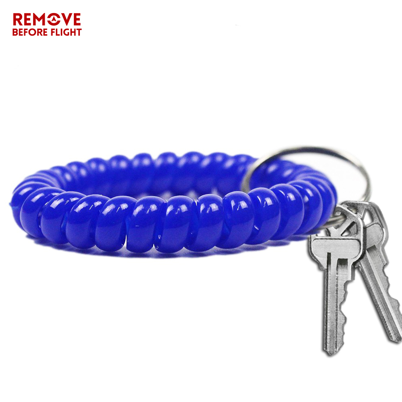 Fashion Multifunctional Coil Bracelet Key Ring Holder Coil Spring Key Chains Jewelry Hair Ring Sauna and Beach Keyring Bracelets (2)