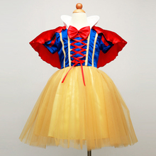 HOT Summer Girls Snow White Princess Dresses for Kids Baby Girl Cosplay Costume Birthday Clothes Children's Party Dress Clothing