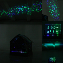 Creative House Nightlight DIY Projector Star Zodiac Signs Audio Message Board House Night Light Gift for girlfriend children