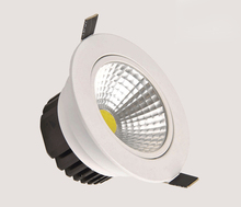 Led Dimmable downlight lamp COB Ceiling Spot Light 3w 5w 7w 12w 85-265V ceiling recessed Lights Indoor Lighting(China)