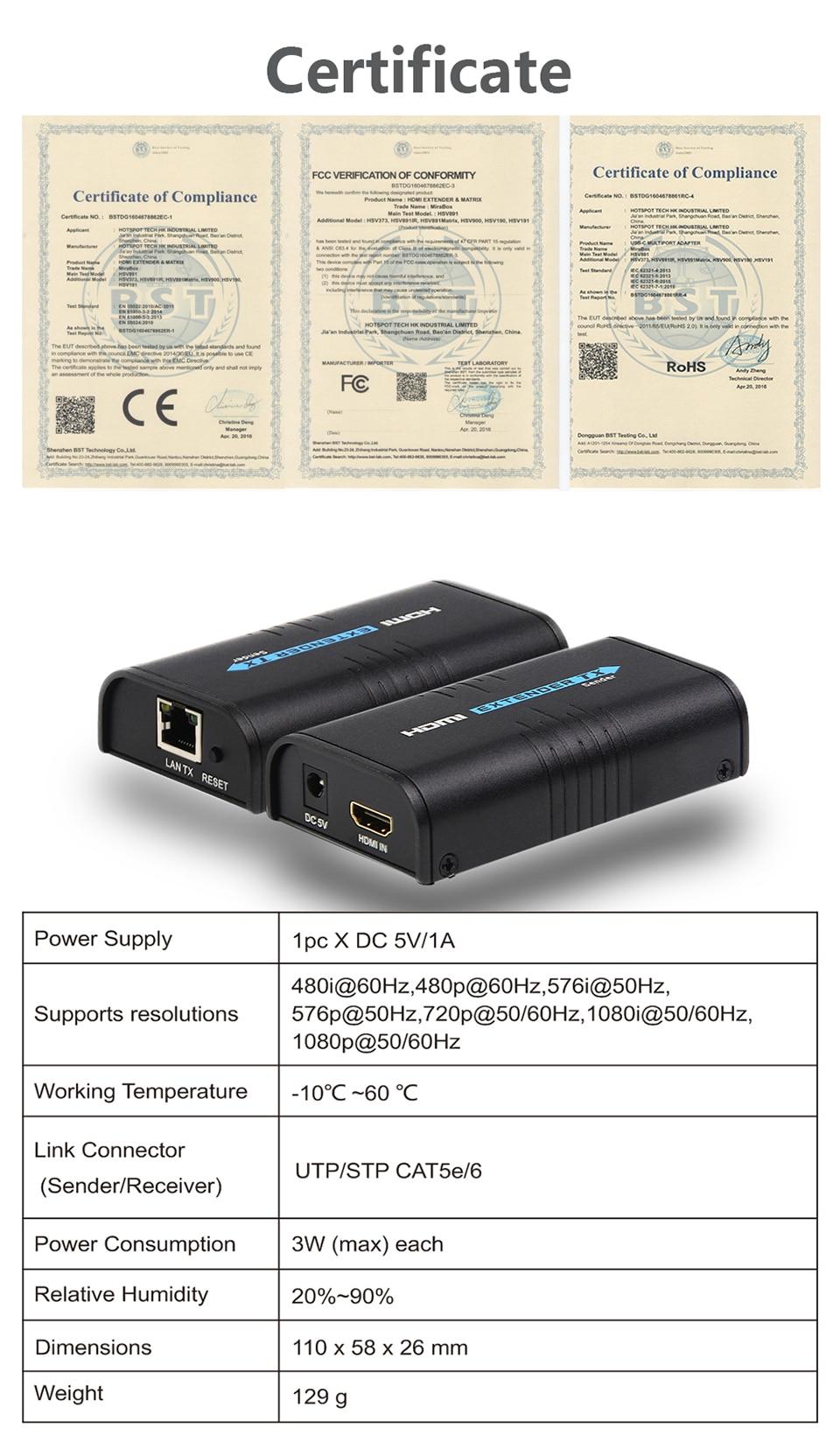 hdmi extender 120m Over Ethernet tcpip rj45 cat5 cat5e cat6 HDMI Splitter hdmi extender Transmitter Receiver for hd DVD PS3 (8)