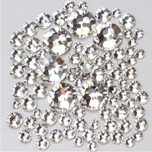NEW(ss3/ss4/ss5/ss6/ ss8 /ss10 ) 1440pcs Crystal Rhinestones for Nail Art Flat Back Non Hotfix Glue on Nail Art Decoration NRS01(China)