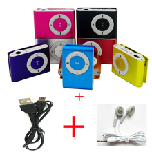Protable Mini Mp3 Music Player Mp3 Player Support Micro TFCard Slot USB MP3 Sport Player USB Port With Earphone For Iphone