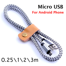 Original Micro USB Cable Nylon Line and Metal Plug Data Sync Charger microusb cable for samsung galaxy S7 s6 s5 s4 Android Phone