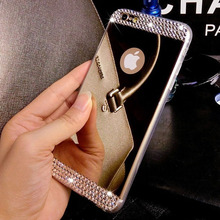 Case for Apple iPhone 6 6s Plus Luxury Bling Diamond Bright Acrylic Crystal Mirror Cases Soft TPU Back Cover i6 mobile phone