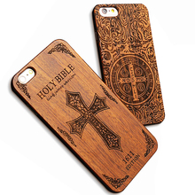 Retro Nature Wood Case For iPhone 7 6 6s Plus 5 5s SE Cover Top Quality Genuine Embossed Skull Wooden + Hard PC Phone Cases Capa