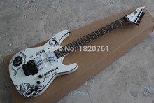 Free shipping Top Quality ESP Custom Shop KH-2 Ouija Kirk Hammett Cynthia White Electric Guitar 14510(China)