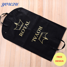 Hot sell non woven dress cover non woven coat bag non woven jacket bag suit bag for clothing escrow accepted