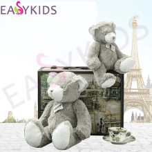 Lovely 34cm 50cm Gray Bear Dolls Stuffed Animals Plush Toys Teddy Bear Sleeping dolls birthday Christmas Gifts for Kids