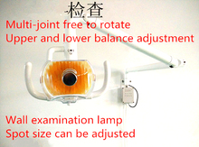 2016 MEW 120cm Halogen operating lamp Hanging Wall Mounted dental light(China)