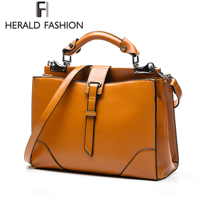 Herald Fashion Luxury Handbags Women Bags Designer PU leather Women Shoulder Bag Office Ladies Casual Totes Business Briefcase<br><br>Aliexpress