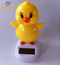LeadingStar Hot Selling Lovely Solar Powered Dancing Chick Children Solar Toy Car Furnishing Articles Yellow zk15(China)