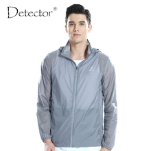 Detector Men Outdoor Ultralight Water Resistant Windbreaker UV Anti Protection Skin Jacket Camping Hiking Jacket Thin Sport Coat(China)