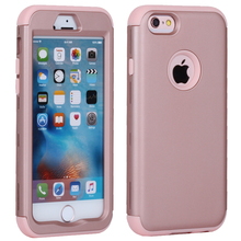 For iPhone 6 Case Silicone & Plastic Hard Cover iPhone 6 6S Plus Phone Case With Rubber TPU Coque For iPhone6 Plus 6 S(China)