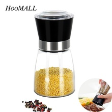Hoomall Creative Manul Pepper Grinder Salt Mill Seasoning Kitcehn Tools for Grinding Ceramic Movement Kitchen Accessories(China)