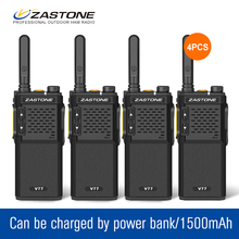 4Pcs/lot ZT-V77 UHF 400-470MHz 1500mAh Slim Baby Walkie Talkie 16 Channels Portable Walkie Walkie CB Radio Security Equipment(China)