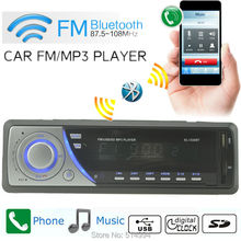 New!car radio mp3 player Support BLUETOOTH answer hang up the phone FM USB SD 12V 1 din car audio stereo mp3 Free shipping