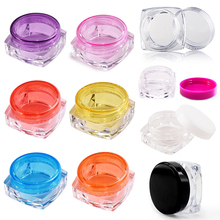 Selling 100X 5g Portable Low Price perfume Jar Pot Box Makeup Nail Art cosmetics Bead Storage Container Sample Bottle Transparen(China)
